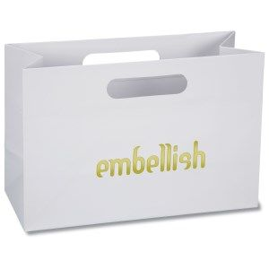Printed gift bags 73 pinterest as theyre busy perusing the shops your logo is attracting business negle
