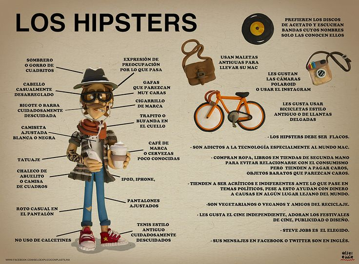 Hipsters #Infographic in Spanish