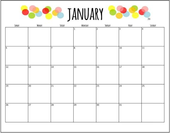Free Printable 18 Month Calendar… | Cool fun Stuff | Pinterest