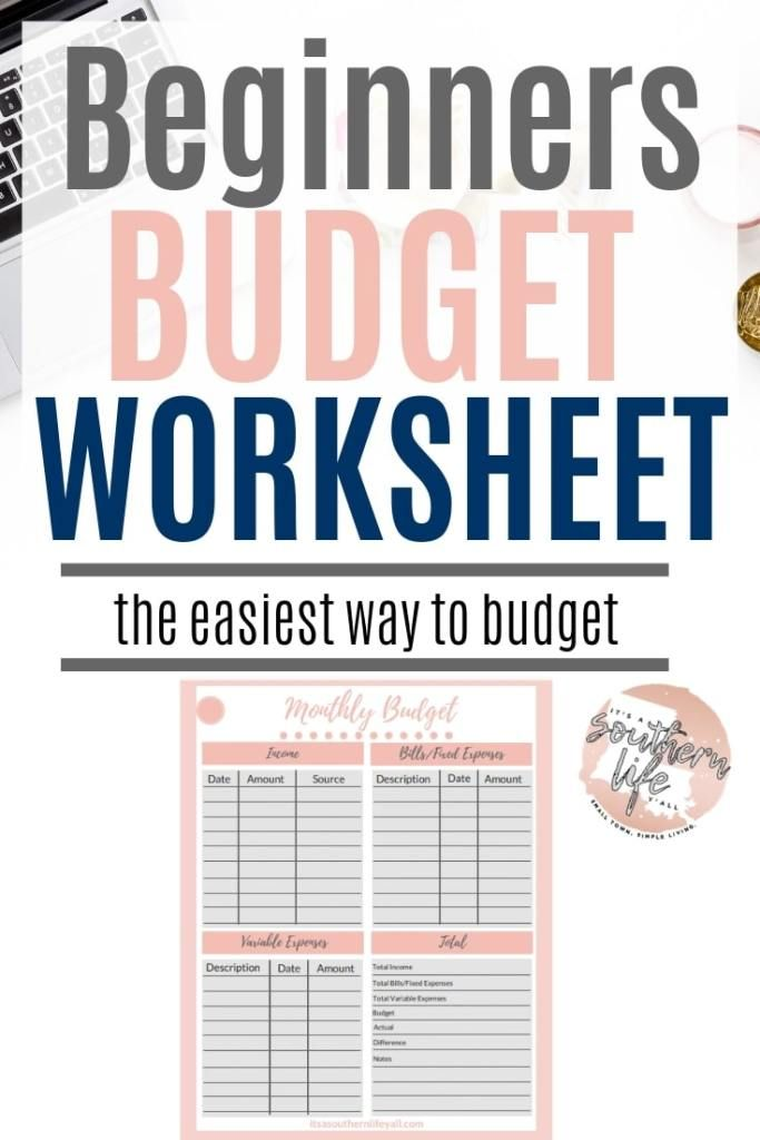 simple budget for beginners planners budgeting. Black Bedroom Furniture Sets. Home Design Ideas