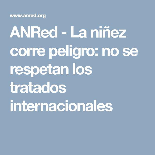 ANRed               - La niñez corre peligro: no se respetan los tratados internacionales