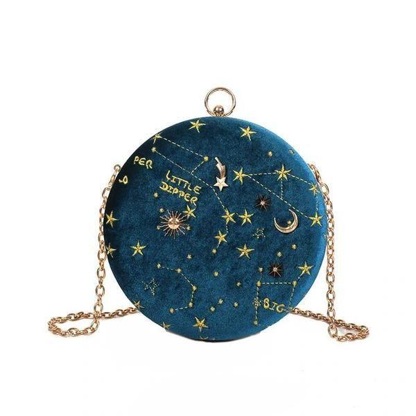 f65510040594ce Constellation Sky Velvet Crossbody Purse in 2019 | Purses, Clutches ...