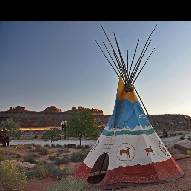 Native American Tents & A Native American Tee Stock Photo ...