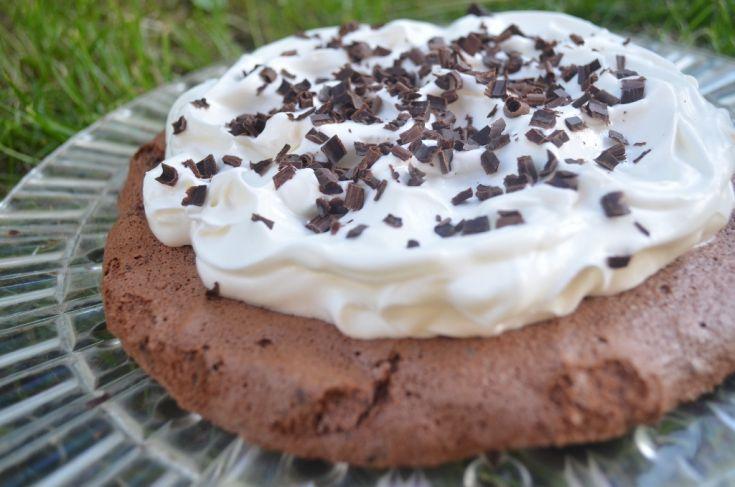 Fotorecept: Čokoládová Pavlova torta