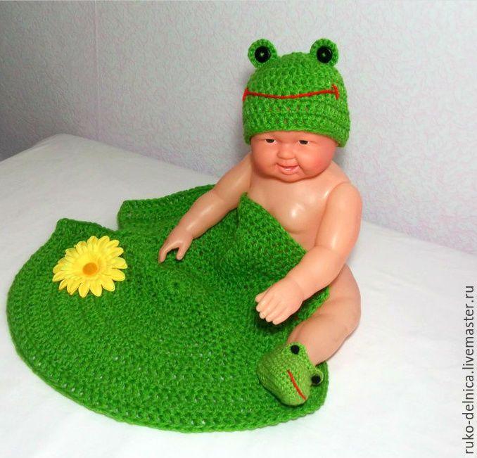 """Купить Комплект для фотосессии """"Лягушка"""" (для новорожденных новорожденным) - комплект для фотосессии, для фотосессий, для фотосессии, для фото"""