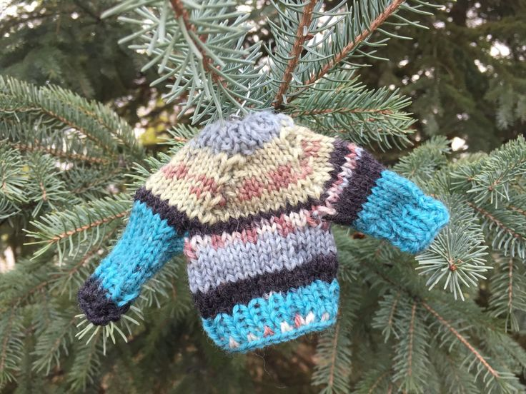 Ugly Christmas Sweater, Christmas Tree Ornament, micro knitted pullover, Stocking Stuffer/Filler, Gift under 10, gift for him, Secret Santa by UniqueWeddinCreation on Etsy