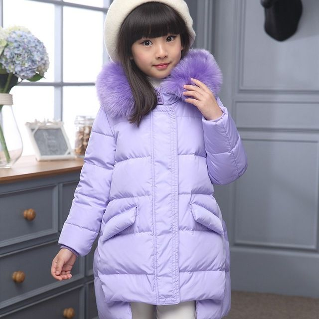 Big Sale $29.58, Buy Fashion Children Down Jacket Russia Winter Jacket For Girls Thick Duck Down Kids Outerwears For Cold -30 degree Jacket Warm Coat