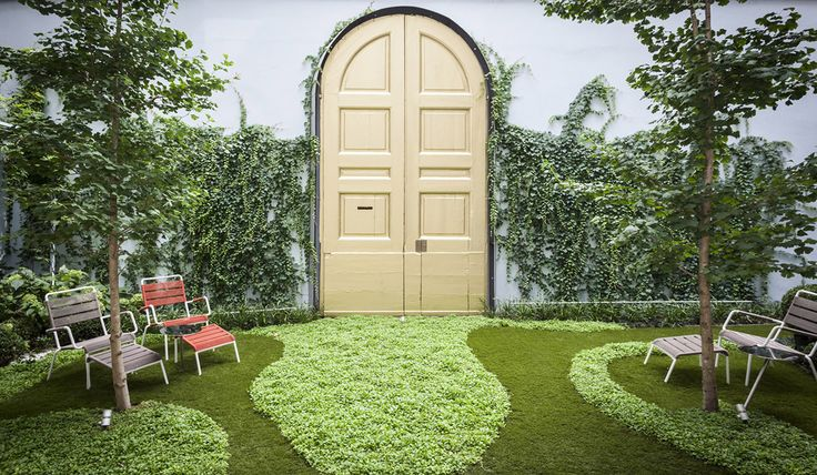The secret garden at Senato Hotel Milano