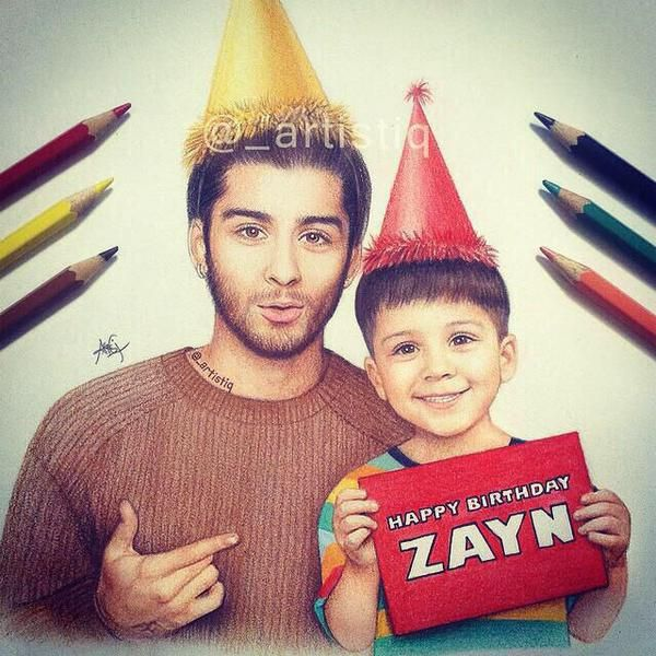 Twitter! Isn't this the cutest thing that eve-r existed??!!! Happy birthday to my love of life... Zayn Malik!!!! Can't believe you are 22:( Love you loads<3<3 Wish you a very happy life and inshaAllah many more to come:* Have a very happy life with ur beautiful soon to be wife...Perrie Edwards!! And ur amazayn family!!!!   Love you... Xoxo