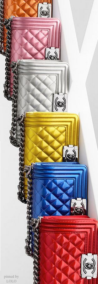 Boy Chanel Flap Bags...one in every color! Blue, Red, Orange and Silver for me please!! Thanks!