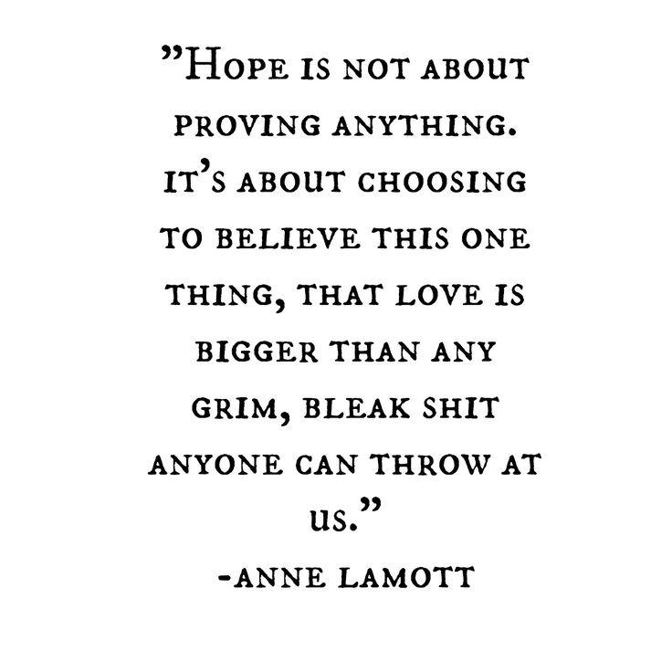 Hope is where its at...