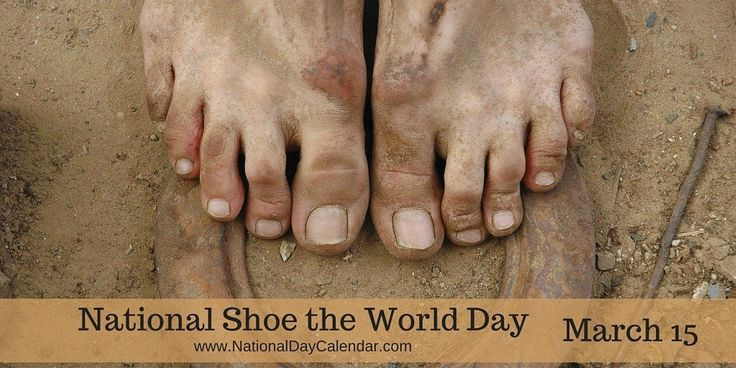 #NationalShoeTheWorldDay did you know there are 500 million people daily going barefoot in the world?