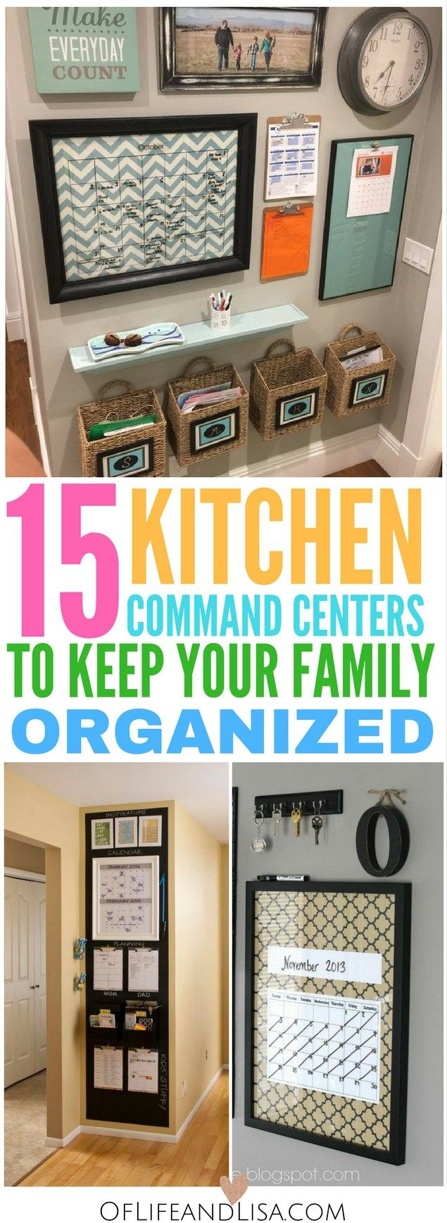15 command centers ideas to keep your family super organized.