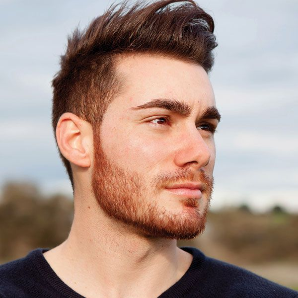 Length mens sideburn 5 Hair