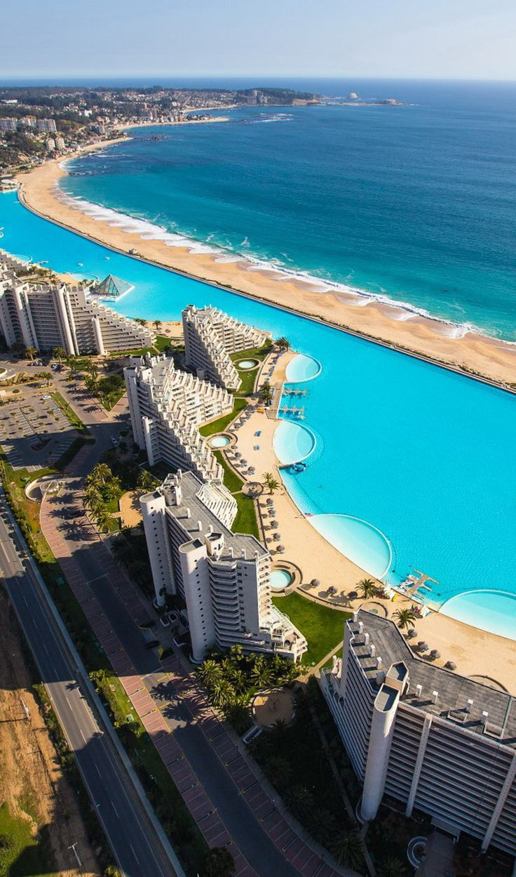 The largest pool in the world encompasses a staggering 66 million gallons of water, and the construction, which lasted for five years, ended up costing more than 1.65 billion dollars.
