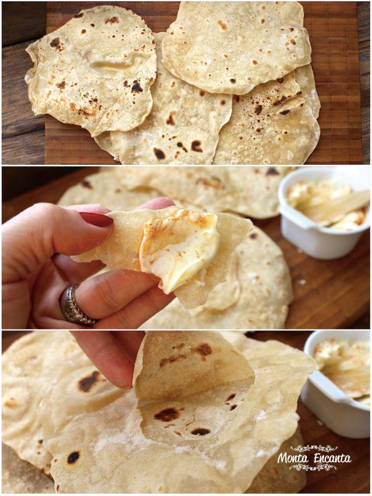 Por que não ir para cozinha e preparar, você mesmo um pãozinho caseiro delicioso? Pão Chapati, um pão indiano, sem fermentação é um dos pães mais antigos do mundo. Ele lembra o pão pita, pão árabe, só que mais fininho, ainda mais leve e muito gostoso. Por não levar fermento é de fácil digestão. Super …