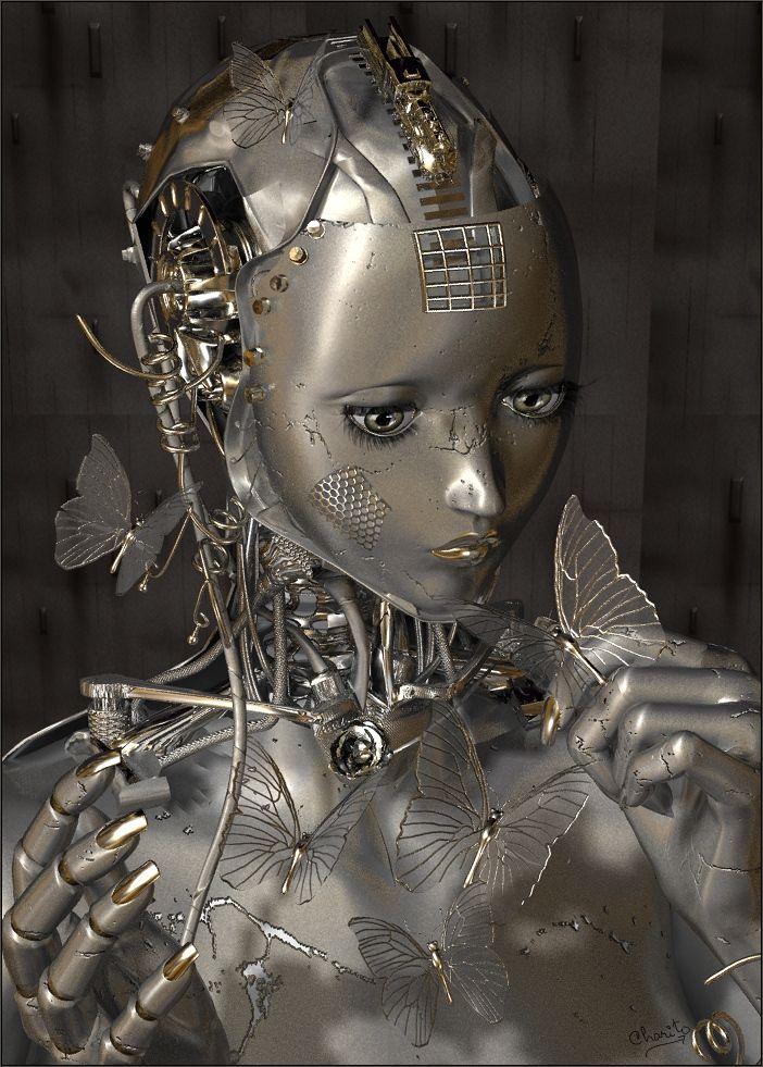 cyborg, female bot, robot girl