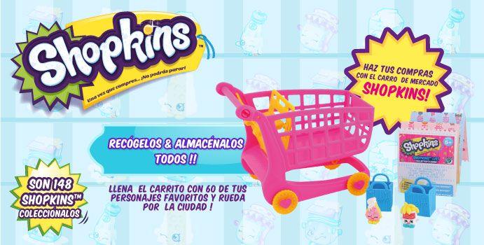 Has tus compras con el carro de mercado Shopkins!