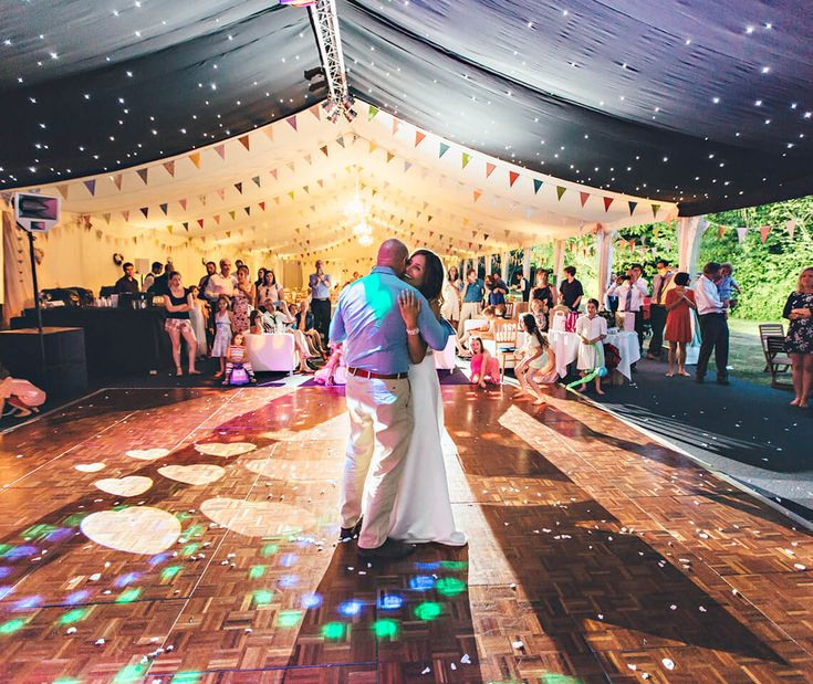 Oak Parquet Dance Floor - perfect for inside marquees and barn venues for that rustic, country wedding look.