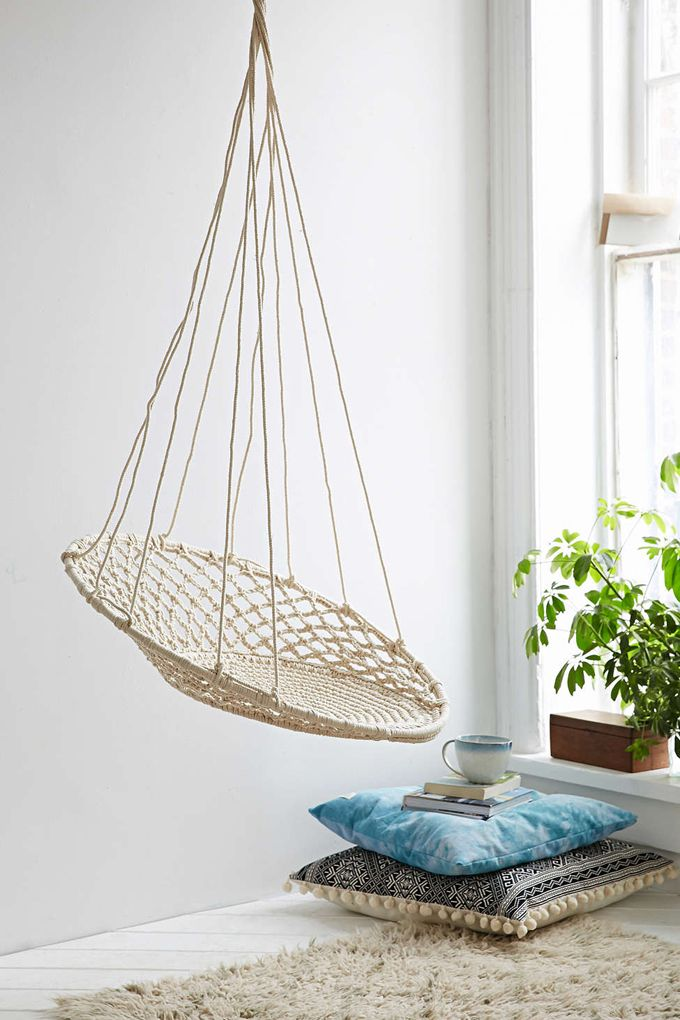 Would This Be Too Distracting For School Room? Cuzco Hanging Chair From  Urban Outfitters