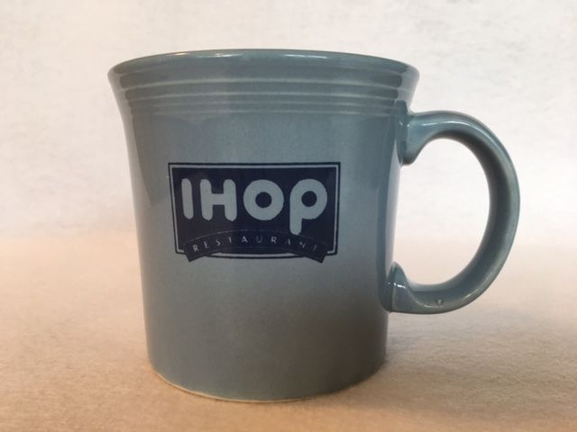 Fiesta IHOP Java Mug in Periwinkle made by Homer Laughlin China Company for the International House Of Pancakes restaurants | eBay
