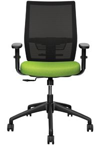 Groupe Lacasse Affinity Task Chair Available in black, grey, red or beige mesh.