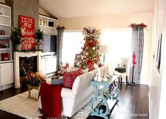 Mejores 21 im genes de decoraciones navide as 2017 para tu - Decoracion navidad casas ...