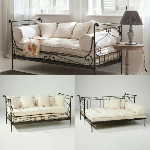 Wrought iron daybed with cushions einrichtung for Daybed cushion ikea