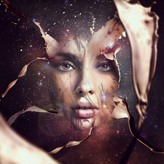 Projetar um retrato futurista Abstract