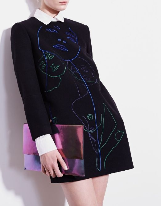 Oh that bag! Definitely adding this Stella McCartney 'Eco Hologram' Envelope Clutch to the collection.