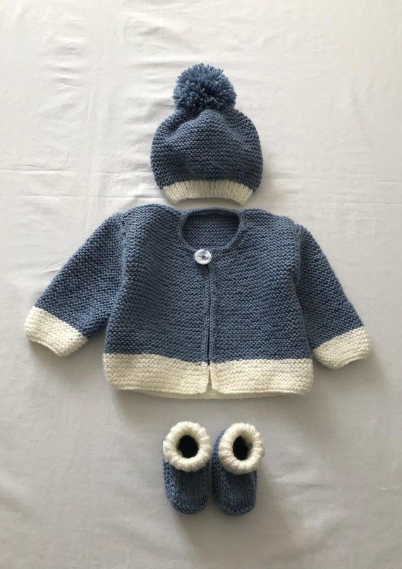 7bab9468c Take home baby girl boy handmade jacket cardigan gift set preemie 0 ...
