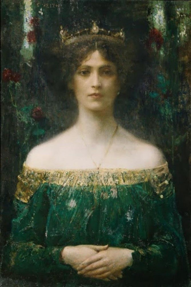 ca. 1902. The king's daughter Eduard Veith (1856-1925, Austrian)