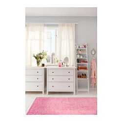 IKEA - HEMNES, 3-drawer chest, white stain, , Of course your home should be a safe place for the entire family. That's why hardware is included so that you can attach the chest of drawers to the wall.Made of solid wood, which is a durable and warm natural material.Smooth running drawers with pull-out stop.If you want to organize inside, you can complement with SVIRA box, set of 3.