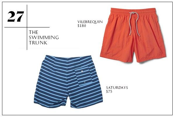 30 Men's Spring Wardrobe Essentials #refinery29  http://www.refinery29.com/mens-spring-clothing#slide-27  27. The Swimming Trunk —Okay, it's not quite beach time yet, but we're using our April weekends to take advantage of the swe-et Kayak deals to, say, South Beach. Plus, you'll be wearing these so much sooner than you think. Memorial Day ain't that far —at least that's what we're telling ourselves. Our bathing suit picks are not too short, not too long, meaning you'll avoid both looking…