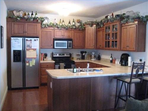 Kitchen Cabinet Decorations Lovely How To Decorate Above Cabinets Ideas For