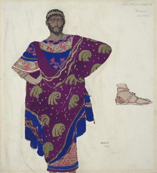 Л. Бакст. Эскиз костюма для балета Елена Троянская. 1912