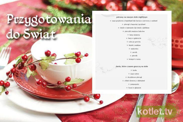 Przygotowania do świąt. Kiedy co ugotować przepis | Kotlet.TV