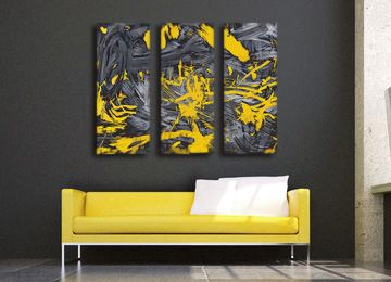 Yellow And Grey Wall Art 23 best yellow canvas wall art images on pinterest | canvas wall