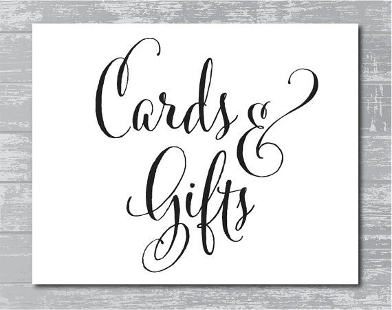 INSTANT DOWNLOAD Cards & Gifts Sign 8x10 DIY by
