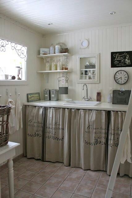 love it as an alternative for kitchen cabinets in lieu of doors