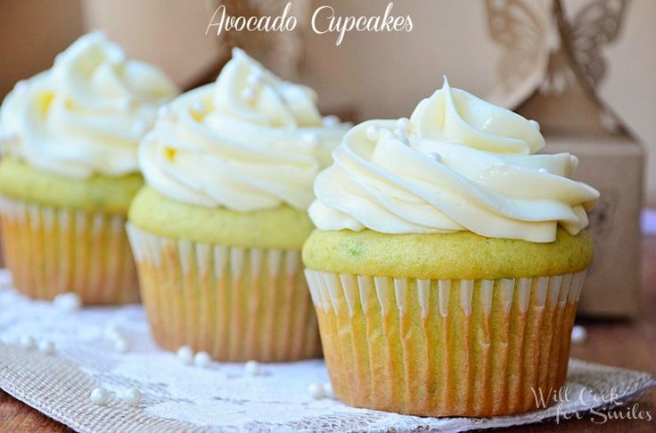 I love different! Avacado Cupcakes - willcookforsmiles.com