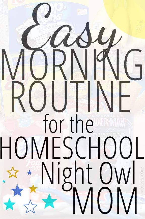 Easy Morning Routine for the Homeschool Night Owl Mom