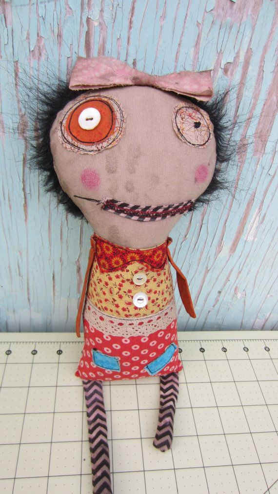 Holly Handmade Art Doll by SewZany on Etsy, $38.00