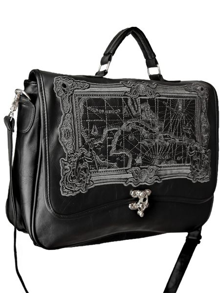 59877c4782fcf Sac cartable noir steampunk pirate avec carte des Cara bes A4 Shop   www.