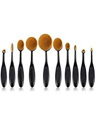 Carry stone10 STÜCKE Make-Up Pinsel Set Weiche Ovale Zahnbürste Geformt Founda…