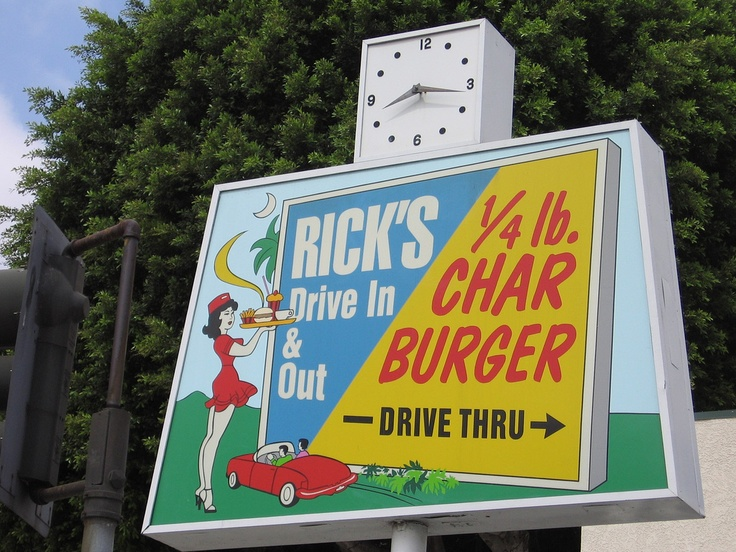 Rick's in Whittier, CA.  Awesome burgers and killer tacos!