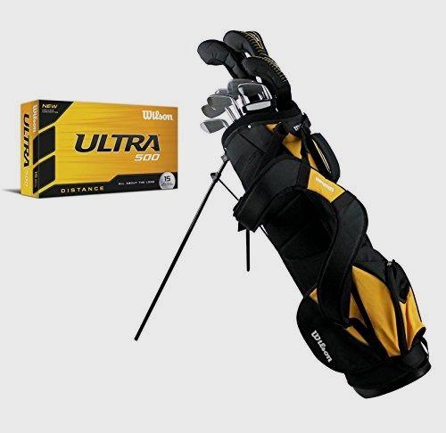 Remarkable Wilson Ultra Men's Left Hand Complete Golf Club Set w/ Stand Bag + 15 Golf Balls https://www.discount-golf-irons.com/product/wilson-ultra-mens-left-hand-complete-golf-club-set-w-stand-bag-15-golf-balls/ #Golf #Wilson