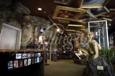 The Gollum sculpture inside the Weta Cave in Wellington, New Zealand.