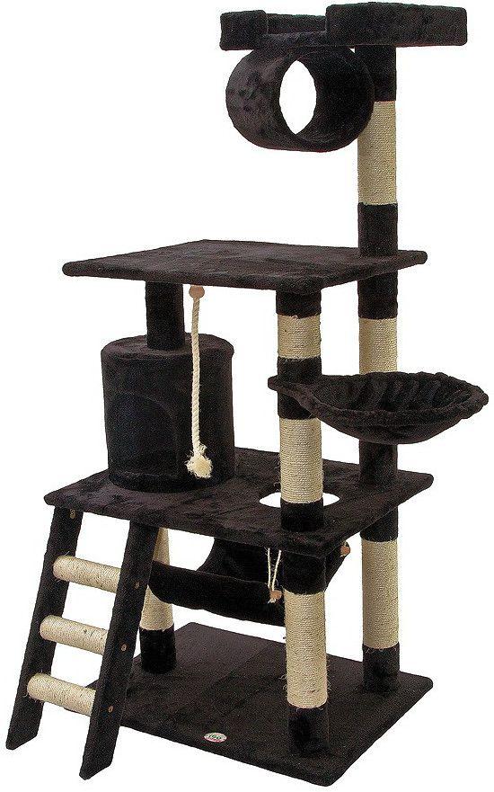 """Go Pet Club 62"""" Tall Black Cat Tree Condo Furniture, 62-in Black Cat Tree"""