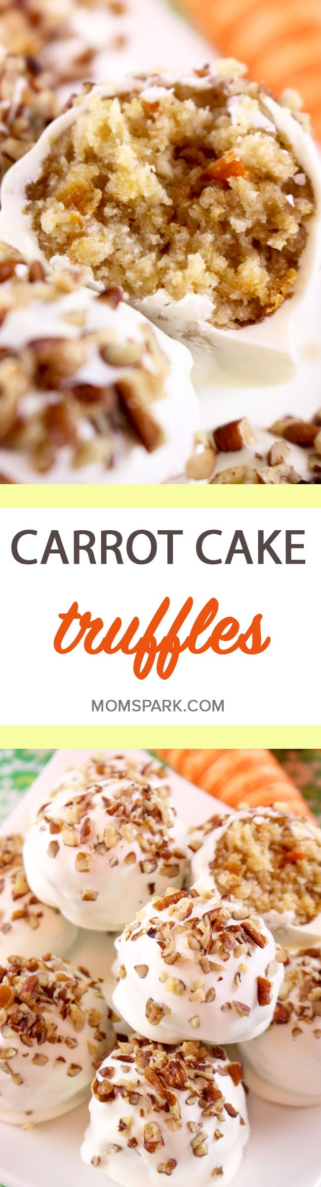 Carrot Cake Truffle Recipe  i love you!  i can bake my own not the now making them love  laughing